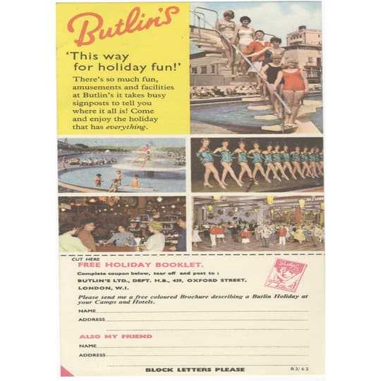 Butlins Holiday 6 - A4 (210 x 297mm)