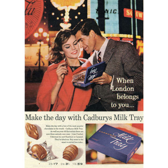 Dementia friendly Couple Enjoy Cadbury's Milk Tray - A4 (210 x 297mm)