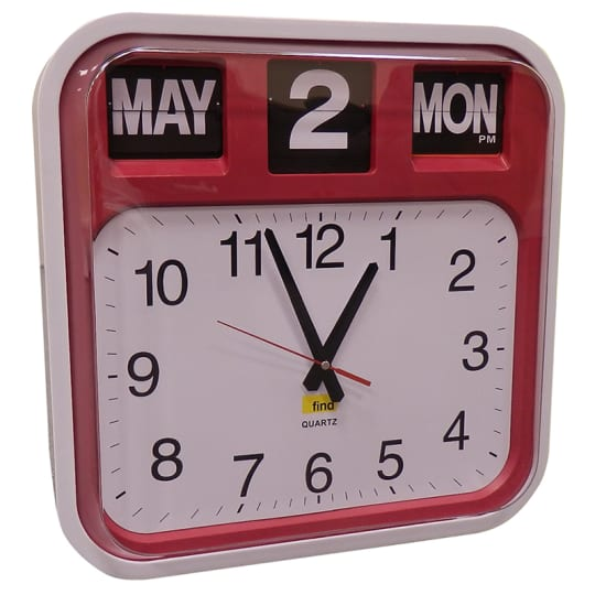 Dementia friendly Calendar clock designed for use in a dementia care environments