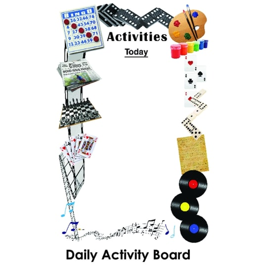 Dementia friendly Daily Activities Board