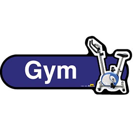 Gym Dining Lounge  - Dementia Signage