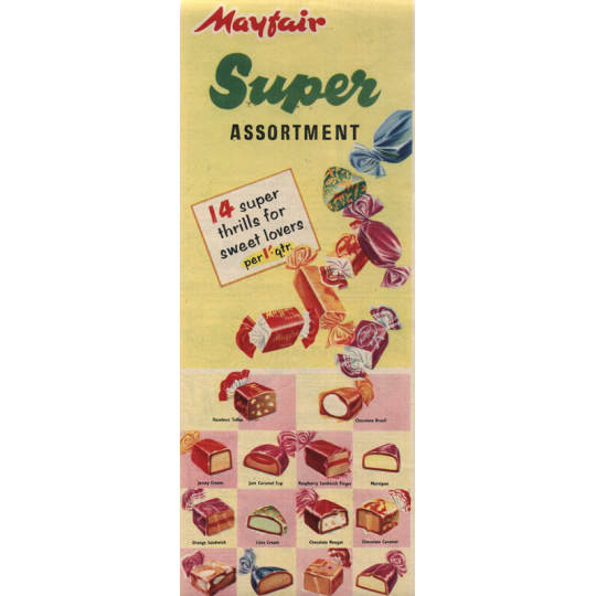 Mayfair Super Assortment Sweets Ad - A4 (210 x 297mm)
