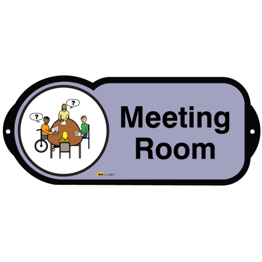 Meeting Room sign for autism and learning disabilities - signage