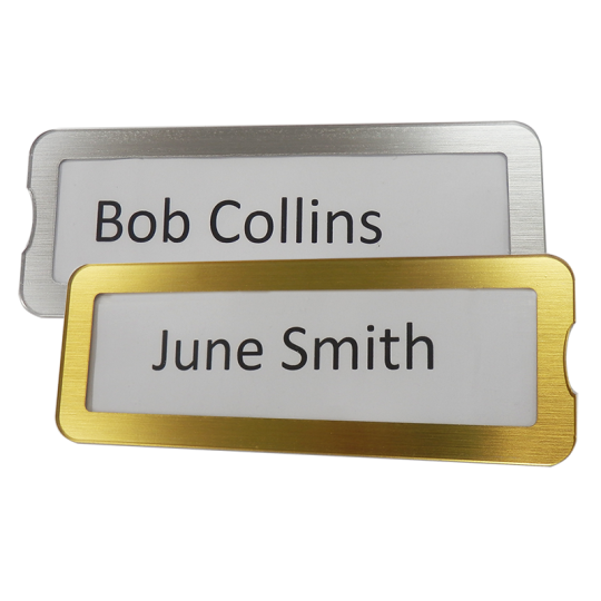 Interchangeable Name Plates
