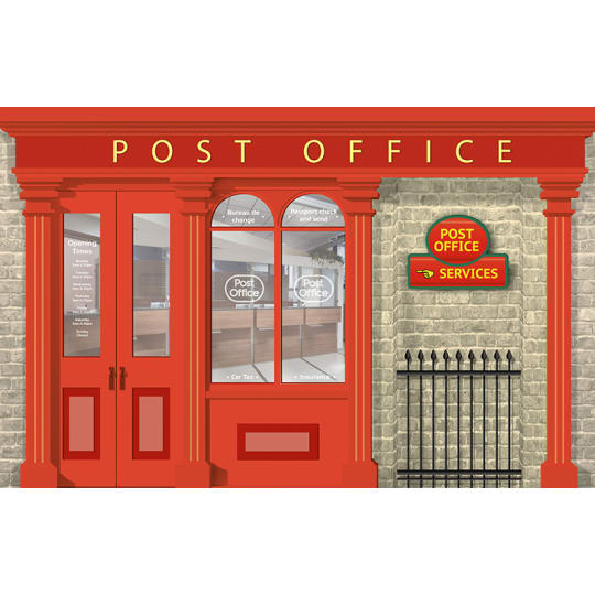 Dementia wall mural Post office design  -  pillar box bundle
