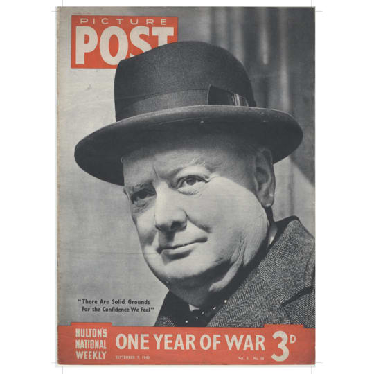 Dementia friendly Winston Churchill - A4 (210 x 297mm)