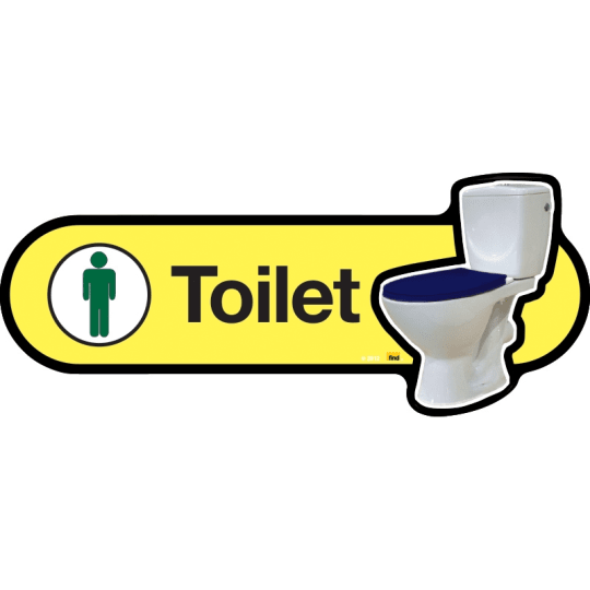 Male Toilet with Symbol - Dementia Signage