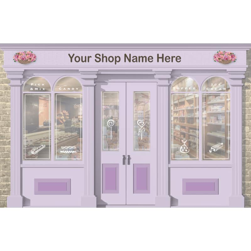 Sweet Shop / Newsagent wallpaper mural for dementia care homes and hospitals