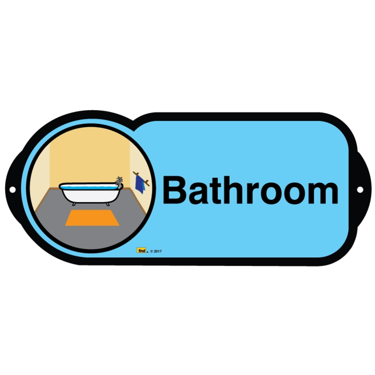 Bathroom sign for autism and learning disabilities - signage