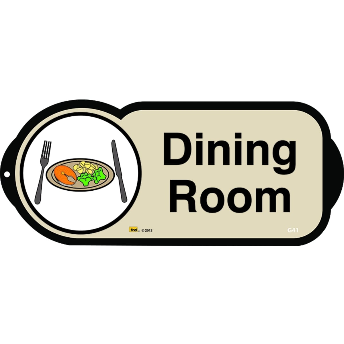 Dining Room sign for autism and learning disabilities - signage