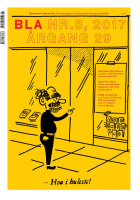 BLA - Bokvennen litterær avis. Nr. 8 2017