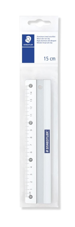 Aluminiumslinjal 15 cm