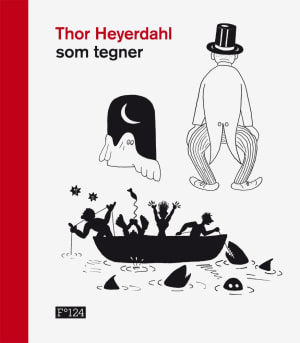 Thor Heyerdahl som tegner