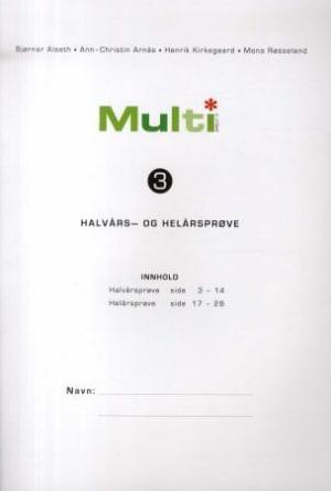 Multi 3, 2. utgave. Halvårs- og helårsprøve
