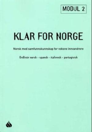 Klar for Norge, ordliste norsk - spansk - italiensk - portugisisk