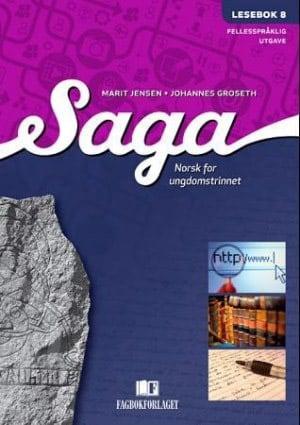 Saga 8 Lesebok (fellesspråklig), d-bok