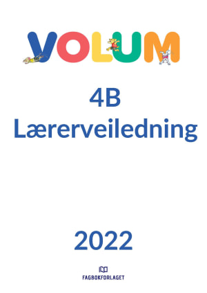 Volum 4B lærerveiledning