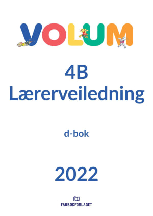 Volum 4B lærerveiledning, d-bok
