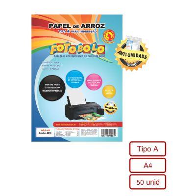 Papel Arroz A4 - Tipo A - Pacote com 50 folhas - Embalado à vácuo