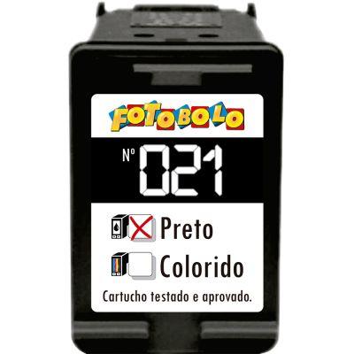 Cartucho HP 21 PRETO - com Corante Comestível