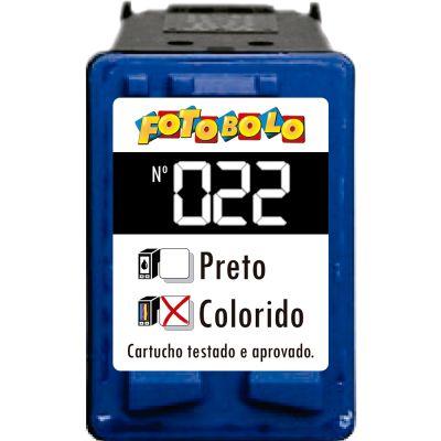 Cartucho HP 22 COLORIDO - com Corante Comestível