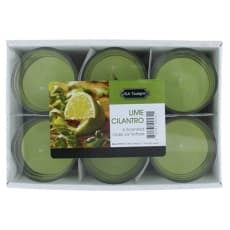 Lime Cilantro 1.5 oz Glass Jar Votives Candle by Candle 6 Pack 9 oz Total - Lime Cilantro for Unisex