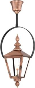 Charleston Hanging Yoke Copper Lantern by Primo
