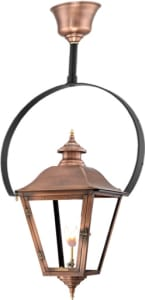 Jolie Hanging Yoke Copper Lantern by Primo