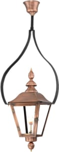 Oak Alley Tear Drop Yoke Copper Lantern by Primo,Oak Alley Half Yoke Copper Lantern by Primo,Oak Alley Wind Guard Copper Lantern by Primo