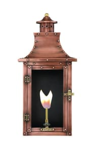 Royal Flush Mount Wall Mount Copper Lantern by Primo