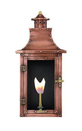 Royal Flush Mount Wall Mount Copper Lantern by Primo