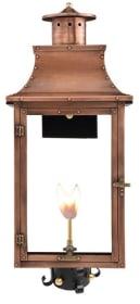 Royal Post Mount Copper Lantern by Primo