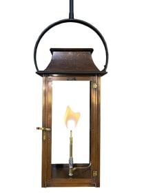 Colonial flush mount wall lantern