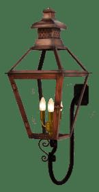 Pebble Hill Lantern with Goose Neck Bracket