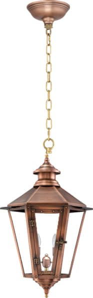 Nottoway Hanging Chain Copper Lantern by Primo