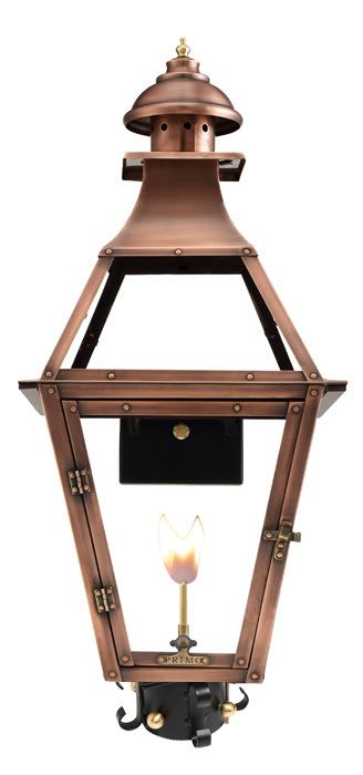 Jackson Gas Post Mount Copper Lantern by Primo