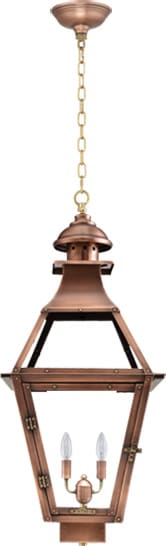 Jackson Hanging Chain Copper Lantern by Primo
