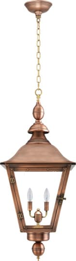 Oak Alley Hanging Chain Copper Lantern by Primo