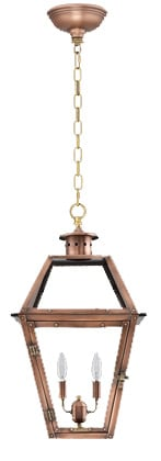 Orleans Hanging Chain Copper Lantern by Primo