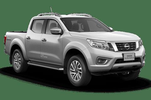 Sølvfarget Nissan Navara