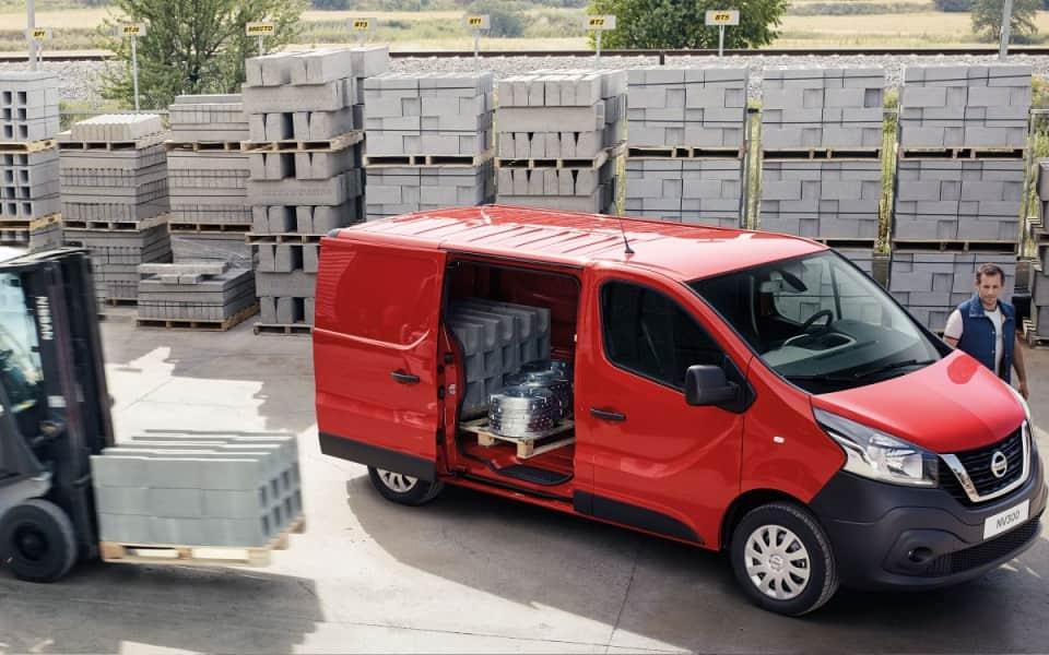 Nissan NV300 varelevering europall