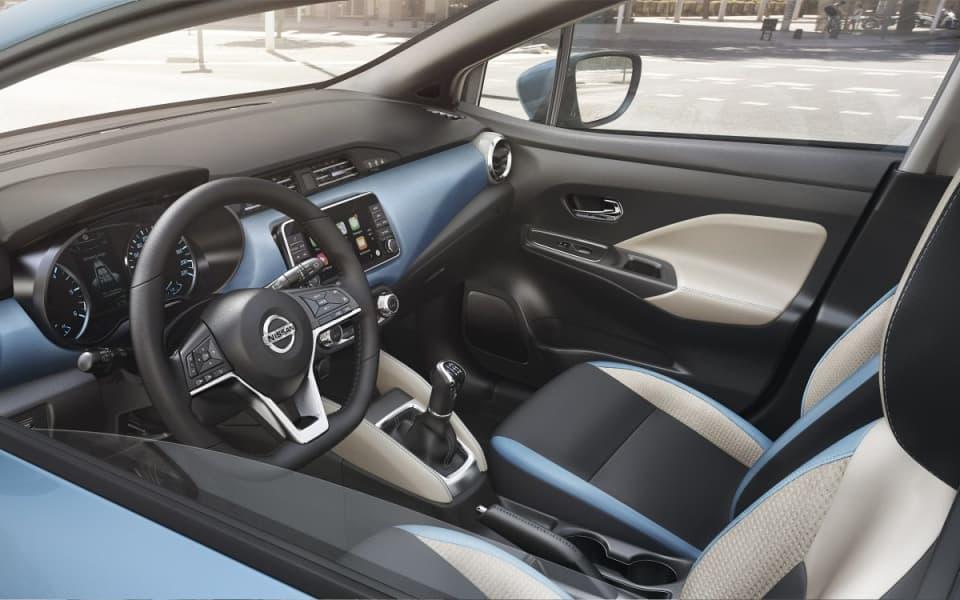 Nissan Micra med interiørpakken Power Blue