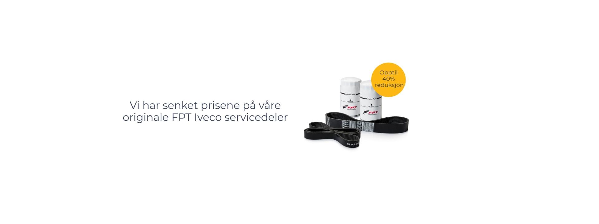 Reduserte priser på originale kvalitetsdeler fra FPT Iveco