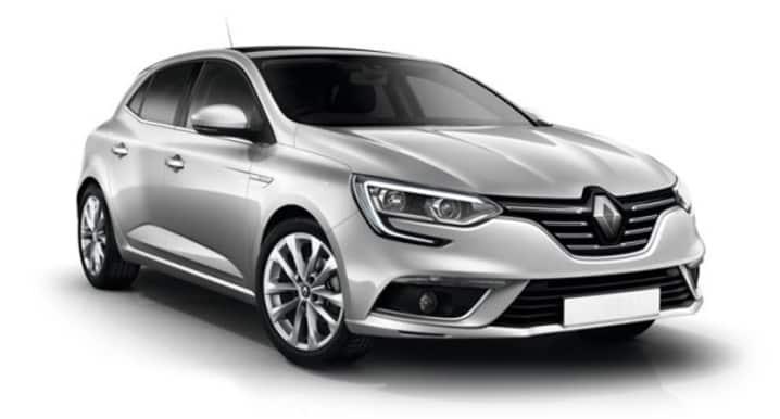 Renault Megane i fargen Grå Platine