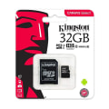 Cartão De Memoria Micro Sd C/Adaptador Classe 10 Ultra 32gb   Kingston
