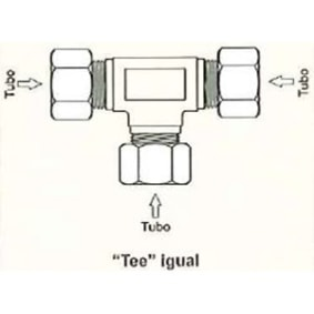 """Tee Igual Ref Pcl 1011 610 Npt 1/7""""   Pcl"""
