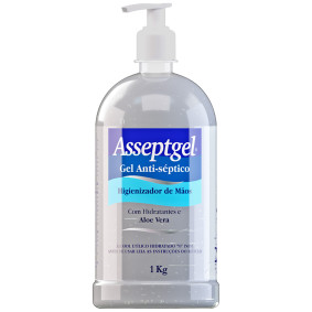 Alcool Gel Antisseptico C /Pump Asseptgel 1kg   Start