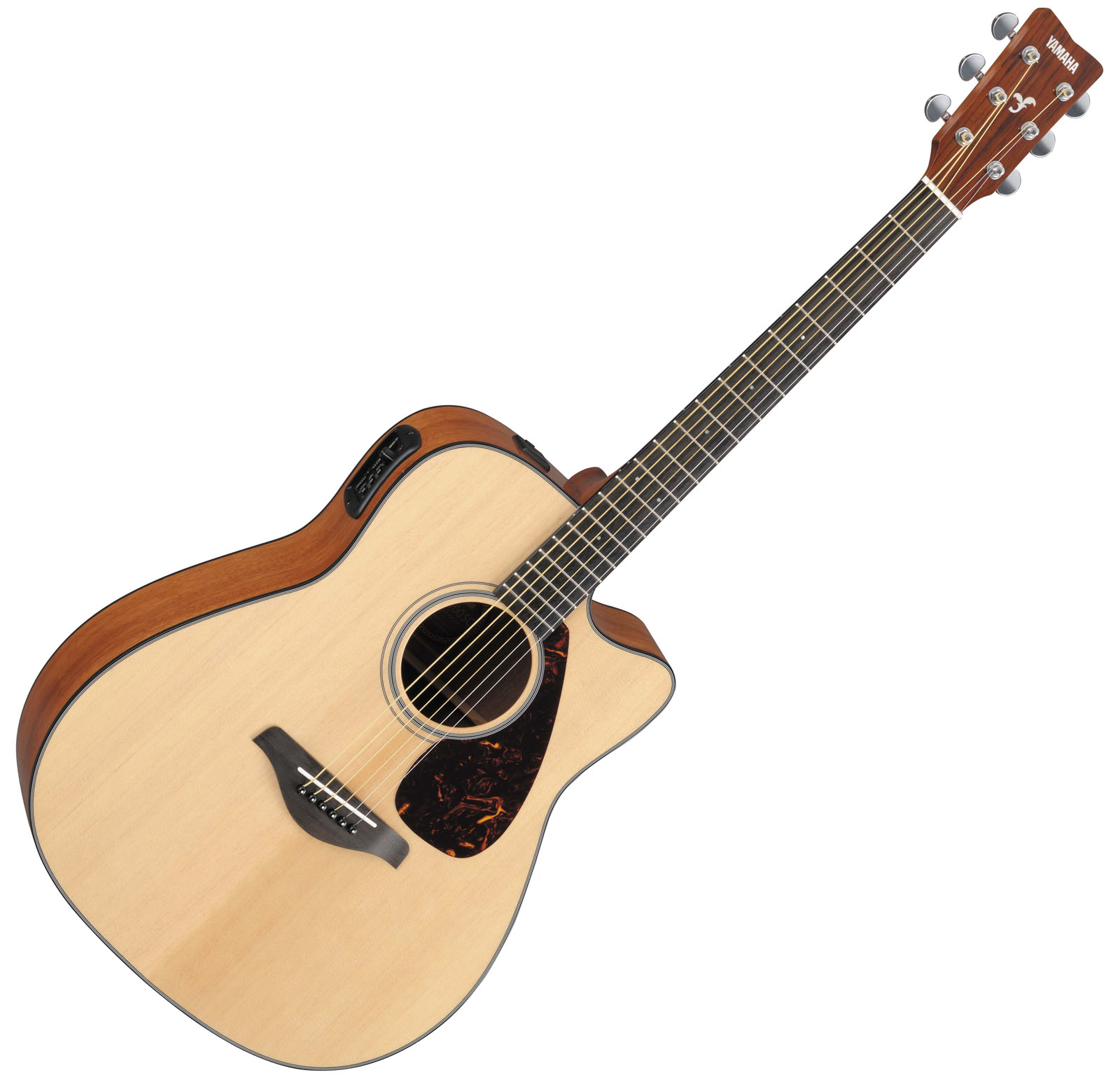 Yamaha Fgx700sc Folk Acoustic Electric Guitar Bundle