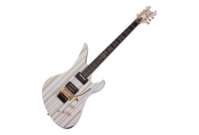 Schecter Synyster Gates Custom S Sustainiac White Gold