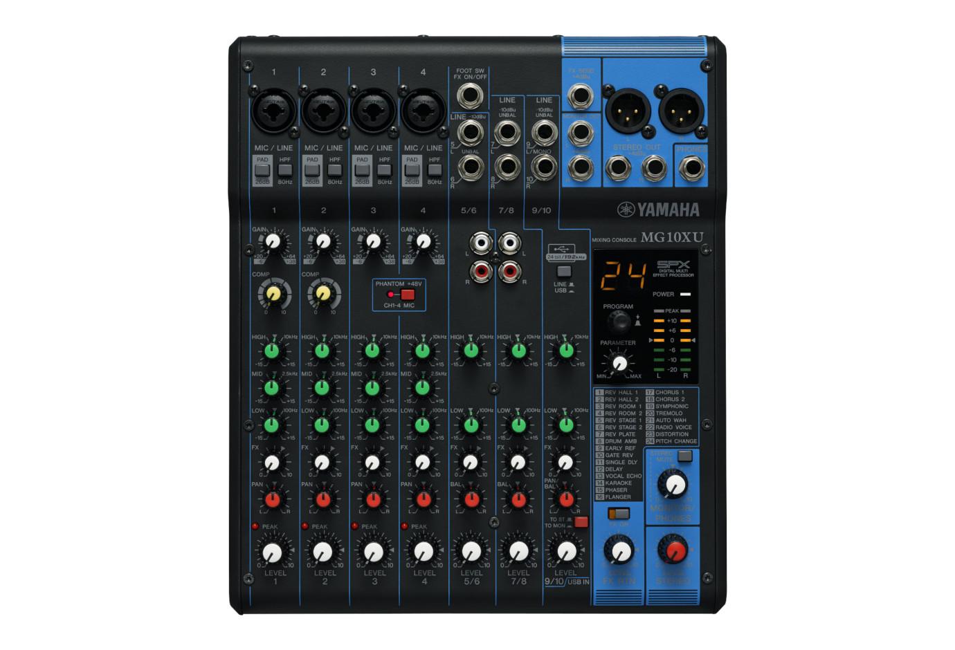 Yamaha mg10xu 10 input mixer w compression effects and usb for Yamaha mg10xu usb cable